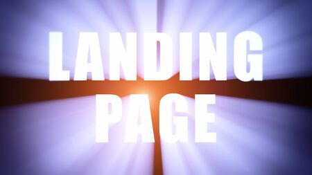 Radiant light from the collocation 'LANDING PAGE' photo