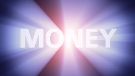 radiant light: Radiant light from the word MONEY
