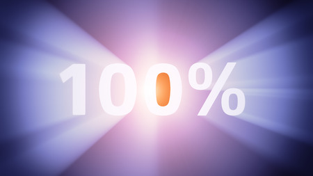 radiant light: Radiant light from the symbol 100% Stock Photo