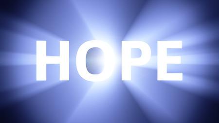 radiant light: Radiant light from the word HOPE