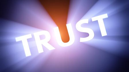 radiant light: Radiant light from the word TRUST
