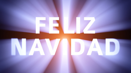 collocation: Radiant light from the collocation FELIZ NAVIDAD