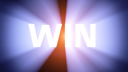 radiant light: Radiant light from the word WIN