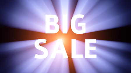 collocation: Radiant light from the collocation BIG SALE Stock Photo
