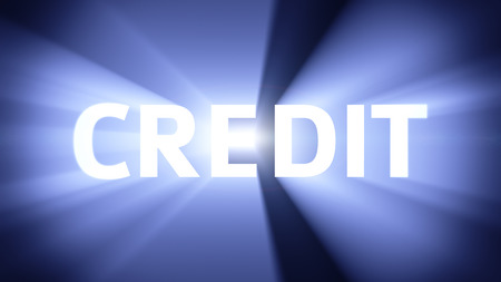 radiant light: Radiant light from the word CREDIT