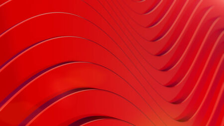 sinusoidal: 3d red waves, abstract curved background