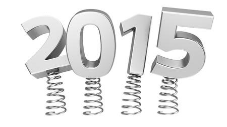 Metal digits 2015 jumping on springs Standard-Bild