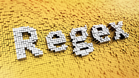 wildcard: Pixelated abbreviation Regex made from cubes, mosaic pattern Stock Photo