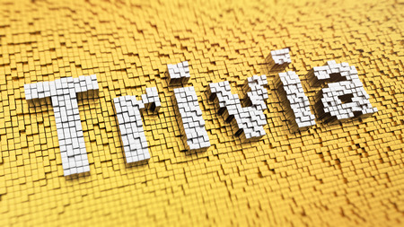 trivia: Pixelated word Trivia made from cubes, mosaic pattern Stock Photo