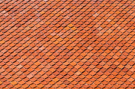 terracotta: Terracotta tiled roof, textured material background