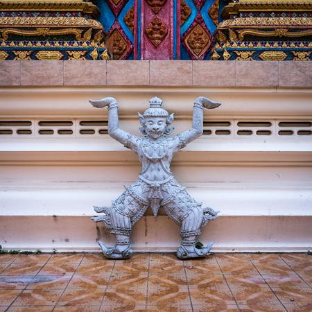 phra nang: Statue of Rakshasa in the temple Wat Phra Nang Sang, Phuket, Thailand