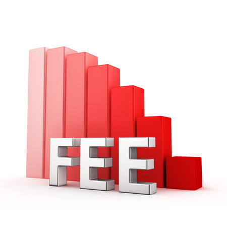 gratification: Moving down red bar graph of Fee on white. You can easy change color of graph