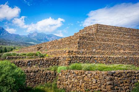 ancient civilization: Guimar Pyramids. Remnants of a Guanche ancient civilization, Tenerife, Canary Islands