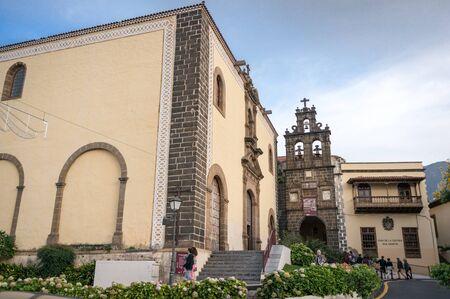 san agustin: Church of San Agustin in La Orotava town, Tenerife, Canary Islands Stock Photo
