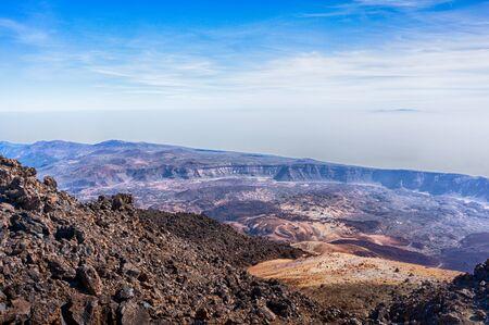caldera: Lava landscape, caldera of Teide volcano, Tenerife, Canary Islands
