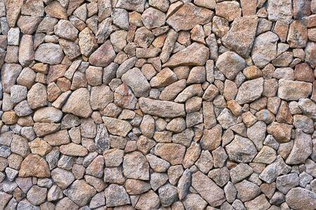 small stones: Natural small stones brickwork. Beige stones texture