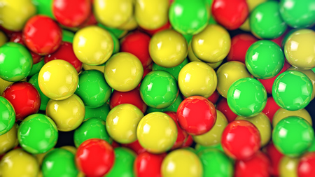 group of colourful ball: Vibrant red, yellow, green balls. Abstract colorful spheres background.