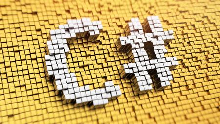 프로그래밍 언어. 픽셀 화 word C # 큐브, 모자이크 패턴에서 만든. 3D 그림 그림 스톡 콘텐츠