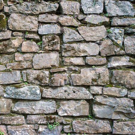 Textura real de viejos ladrillos de piedra. foto de fondo calidad de ladrillo. Bueno para 3D funciona o fondo de pantalla, fondo