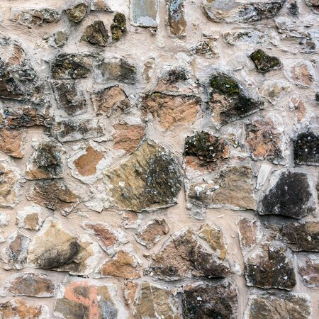 black mold: Real texture of stone wall with black mold stains. Quality photo background for 3D works or wallpaper, backdrop Stock Photo