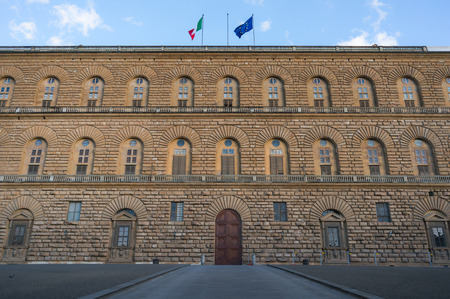 Famouse Pitti palace building front view