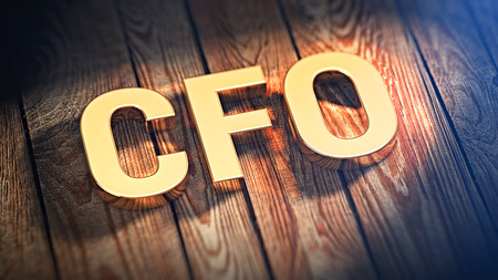 cfo: The acronym CFO is lined with gold letters on wooden planks. 3D illustration image Stock Photo