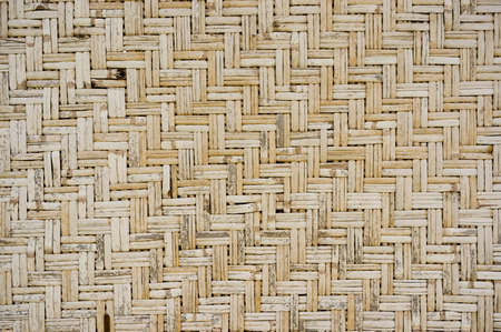Pattern of furniture woven from bamboo wickers. Traditional asian craft.