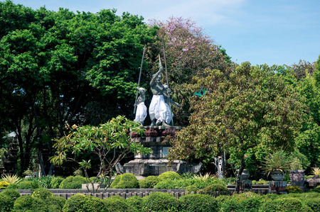Historic monument to the  1906 Puputan in Denpasar, Bali. Puputan is balinese term that refers a mass ritual suicide.