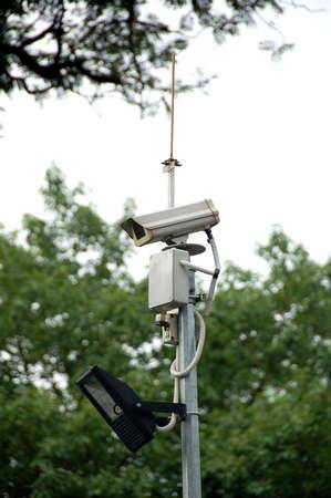 gaurd: cctv camera complete with spot light