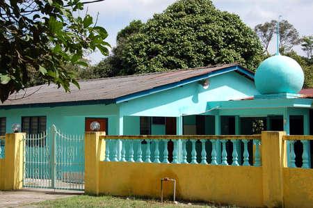 malay village: mezquita de la aldea de Malasia