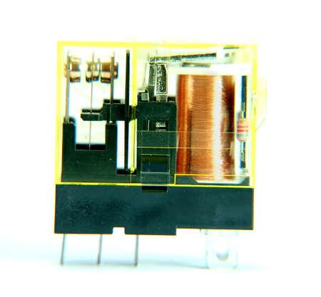 electromagnetic: electromagnetic relay Stock Photo