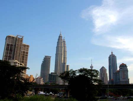 moderm: Kuala Lumpur, Malaysia skyline during evening Editorial