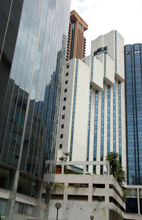 moderm: rear veiw of cluster of hotel and office block in Kuala Lumpur Stock Photo