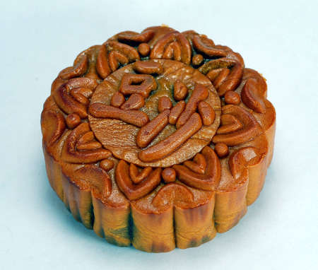 red bean paste chinese moon cake which is must for mid-autumn festival photo