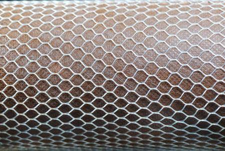 netting: diamant vorm bescherming verrekening van een waterfilter Stockfoto
