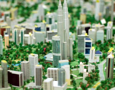 moderm: model of city Kuala Lumpur, Malaysia  Stock Photo