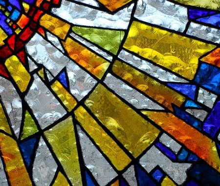 defined: stainglass di vecchia chiesa che mostra modello ed i colori