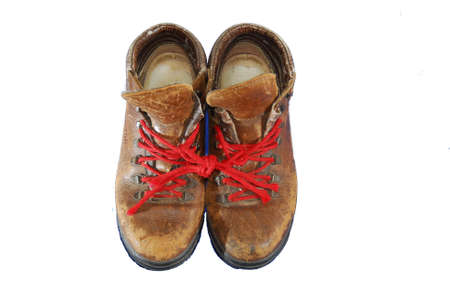 throwaway: a pair well worn out walking shoes