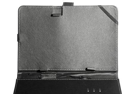 durable: Case cover closed front for tablet on white background black