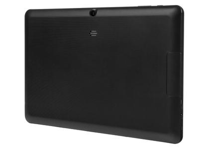 Black tablet white background back right side