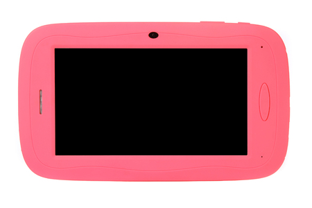 Tablet for kids children colorful case cover simple silicon pink blue on white background