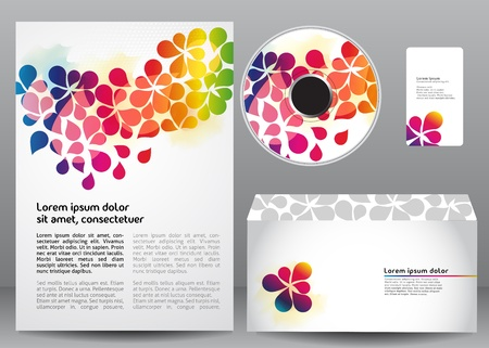 Colorful template design Vector