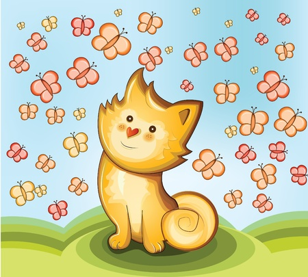 Cute kitten Illustration