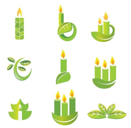 holy leaves: Hand-drawn icon set Illustration