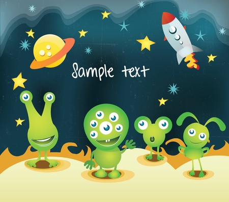 alien cartoon: Alien Illustration