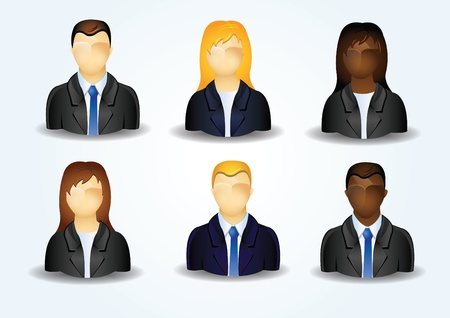 Icons of business people Vector