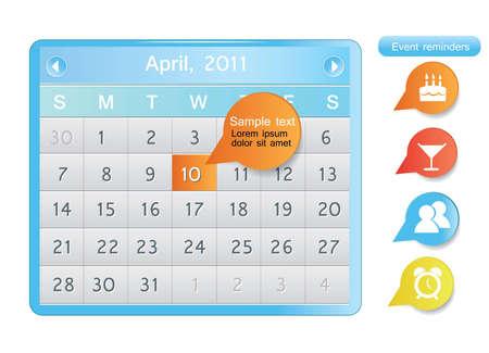 annual events: Calendar Illustration