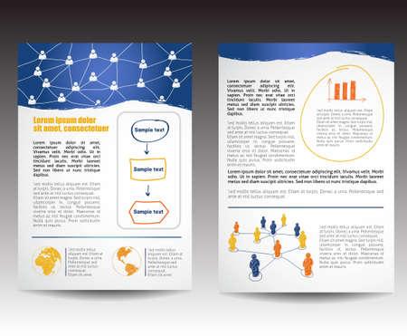 Sjabloon voor Business Brochure, bewerkbare versie Vector Illustratie