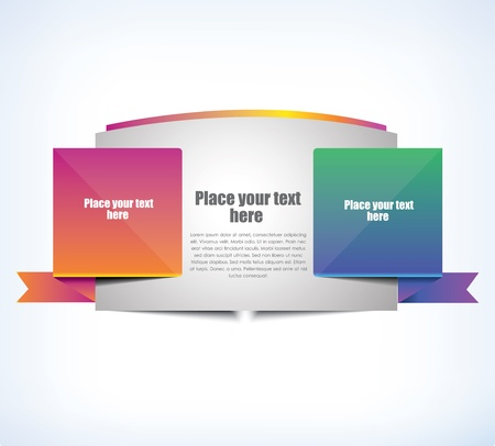 flyer template: Cool banner for web, vector