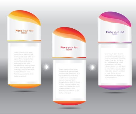 package design: glossy web banners, vector